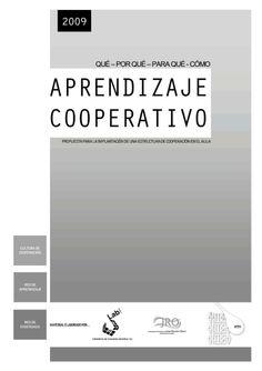 Un libro que nos puiede servir de enlace para introducirnos en el aprendizaje cooperativo
