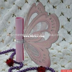 Custom Modern Unique Pink Butterfly Wedding Invitations With Wedding Words -- T192 / China Wedding Supplies for sale from Guangzhou Mengxing Printing Co., Ltd. - Bizrice.com