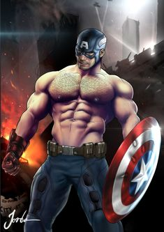 Bodybuilders and Superheroes, jordenarts:   Captain America  Fight for Justice ...