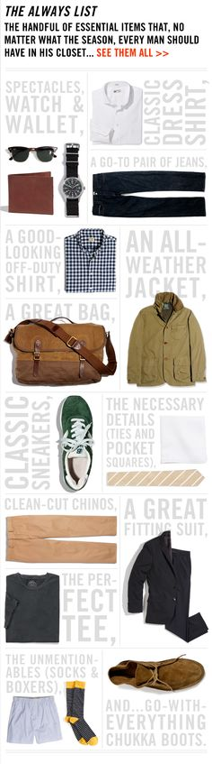 Men's Clothing Collection - The Always List - J.Crew