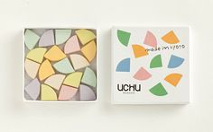 UCHU wagashi can be combined the pieces, to make the shape of your own to draw a picture, it is a new style of Rakugan.