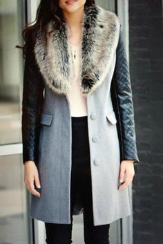 Chesterfield Faux Fur Collar Coat, $199 | 29 Cozy And Warm Faux Fur Coats That You Need This Winter