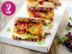 Sandwich mit Gemüse-Bratling