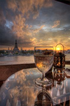 Beautiful sunset in Paris