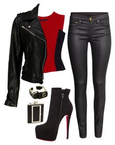 """""""Untitled #336"""" by wideeyed-appreciative ❤ liked on Polyvore featuring H&M, Bey-Berk, Christian Louboutin and VIPARO"""