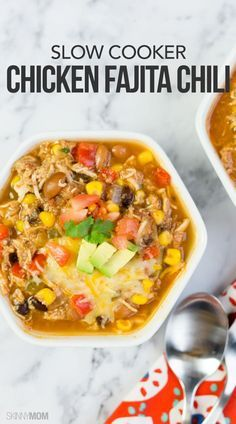 Slow Cooker Fajita Chili: The hearty ingredients come together with the mouthwatering Mexican flavor for a chili you won't be able to resist. This recipe is low-calorie, low-fat and even a good dose of protein, but our favorite part is that it's a slow cooker recipe.