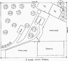 2 Acre Horse Farm Layout | ... two acre mini farm click here for an example of an 80 acre private