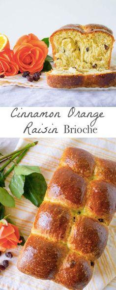 Cinnamon Orange Raisin Brioche. Perfect for holiday brunch! Recipe via http://MonPetitFour.com