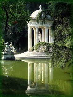 Temple of Diana at the Villa Durazzo-Pallavicini in Genoa, Italy