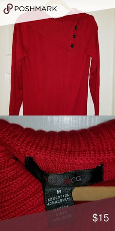 Red Style & Co Sweater Sz L Red Style & Co Sweater Sz L in excellent condition. Great with leggings. Style & Co Sweaters