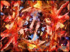 """""""Revelación de otoño"""" Obra digital J.M. 2017 Porque las hojas secas ya vivieron y parecen muertas, pero revelan que pasado y futuro siempre van unidos por el presente, el puente transitorio de nuestra vida."""