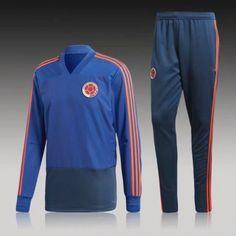 371643f62e8 2018 Tracksuit Colombia Replica Blue Football Suit 2018 Tracksuit Colombia  Replica Blue Football Suit