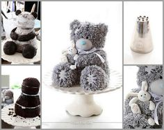 Tutorial: http://bakeabooing.blogspot.co.uk/2012/04/making-of-famous-mrme-to-you-bear-cake.html