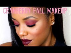 The Best Cranberry Eyes And Vampy Lip Tutorial Ever - Urban Gyal Fall Makeup Tutorial, Lip Tutorial, Emo Makeup, Beauty Makeup, Cranberry Eyeshadow, Dark Lips, Dark Skin, Makeup Tutorials Youtube, Make Up Videos