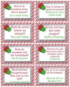 10 elf on the shelf ideas and Free Christmas printable for each day. These a great Christmas riddles. Christmas Jokes For Kids, Funny Christmas Jokes, Christmas Party Games, Christmas Humor, Holiday Fun, Christmas Holidays, Christmas Crafts, Christmas Ideas, 10 Days Of Christmas