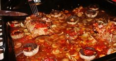 Marinated pork meat Pork Meat, Marinated Pork, Pepperoni, Paella, Protein, Pizza, Cooking, Ethnic Recipes, Food