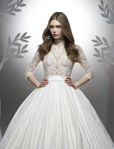 Wedding dresses CONTEMPORARY PRINCESS DIORAMA Fall 2016 Collection - Wedding Dress Accessories, Fall Wedding Dresses, Bridal Dresses, Wedding Gowns, Ersa Atelier, Contemporary Dresses, Retro, Bridal Style, Wedding Styles
