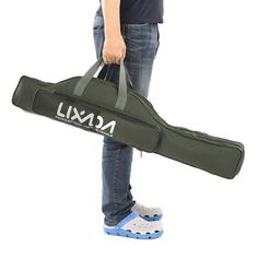 Lixada Foldable Fishing Rod Bag 100cm/130cm/150cm Portable Tackle Bags Case Tube Storage Organizer Backpack Fishing Accessory This fishing rod bag may be the simplest bag to hold you fishing rods, reels and other tackles. It has two main big compartments, exteriors pocket and 1 mesh pocket, which is #FishingGearAndAccessories