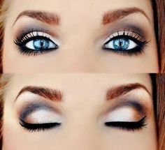 LOVE pink and light eye shadows with black eye liner! http://flawlesseyeshadows.blogspot.com/