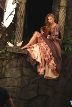 """Rapunzel June 20, 2012 in Culver City, California. The newest """"Disney Dream Portrait"""" was commissioned by Disney Parks for their ongoing celebrity advertising campaign which debuted in 2007. The Leibovitz image, which will appear in upcoming issues of Vanity Fair, InStyle and People i"""