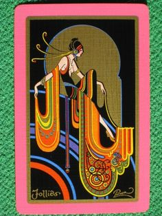 "Fred Packer Fabulous Art Deco Playing Card ""Follies"" Vintage Original 1928 Mint 