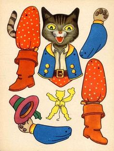 Articulated Paper Dolls — Puss in Boots  (569x750)