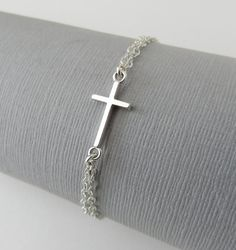One of the favourites in my store : Cross Bracelet, First Communion Gift for Her, Sterling Silver Cross Bracelet http://marciahdesigns.com/products/cross-bracelet-first-communion-gift-sideways-cross-bracelet-confirmation-gift-sterling-silver-dainty-cross-jewelry-religious?utm_campaign=crowdfire&utm_content=crowdfire&utm_medium=social&utm_source=pinterest