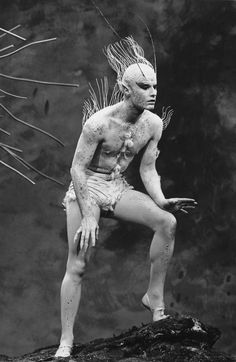 Roddy McDowall as Ariel in Shakespeare's The Tempest - Shakespeare - The Tempest - Richard Burton - Maurice Evans - Lee Remick - Roddy McDowall - NBC Television - Hallmark Hall of Fame - - art - photography - by Tony Karp William Shakespeare, The Tempest Shakespeare, Ariel Costumes, Theatre Costumes, Samuel Beckett, August Strindberg, Theatre Design, Music Theater, Costumes