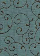 G3838 Ozark Ol Blue Embroidered Faux Silk Fabric