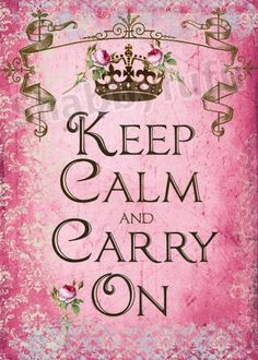 Clearly this will remind you to keep calm and carry on (by order of the crown) compliments of shabbyfufu.com.  LOVELY!  $18