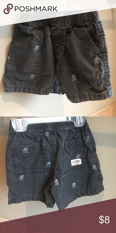 "Shorts with ""skull"" detail. Elastic waist. Children's Place Bottoms Shorts"