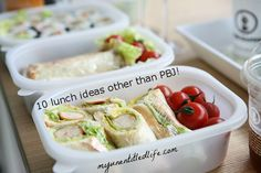 10 lunch box ideas that do not involve sandwiches.