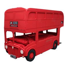 Outrageous beds and bunk beds for kids like this London Double Decker Bus bunk bed