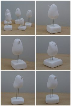 clay birds ready to decopatch -The singing birds | Flickr - Photo Sharing!
