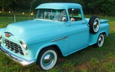 Truck of My dreams: 1955 Chevy 3100 in Tiffany Blue