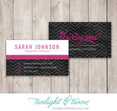 72 best Thirty One   Scentsy Business Cards images on Pinterest in     Thirty one Chevron Noir Business Card   Custom PDF Template  ThirtyOne   Thirty One  Vista Print  31