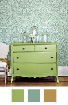 7 Ideas for Colors to Pair With Green When Decorating | Green is one of those colors that feels nostalgic, refreshing, comforting and glam all at once, depending on the shade. It's amazing in that it can lean cool or warm, which means the possibilities are vast when it comes to decorating with it. Here, we found seven fantastic spaces that use the color to great effect and walk you through how to introduce the fresh palettes into your home.