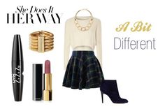 """A Bit Different"" by rauhlercoaster ❤ liked on Polyvore featuring Glamorous, Chicwish, Sam Edelman, R.J. Graziano, Chanel, Balmain, NYX, Fall, cute and gold"