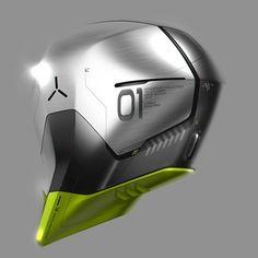 Arthur Martins Helmet Armor, Helmet Design, Robot Design, Futuristic Helmet, Futuristic Design, Helmets, Vr, Mecha Suit, Industrial Design Sketch