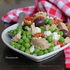 Insalata di tonno e piselli Light Recipes, Clean Recipes, Wine Recipes, Salad Recipes, Cooking Recipes, Healthy Recipes, Portuguese Recipes, Italian Recipes, Mama Cooking