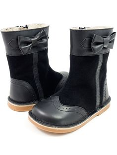 Livie and Luca Shoes - Whitney Boot in Black Leather