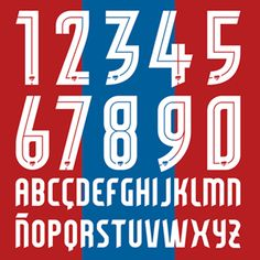 The ever giving exploration of typography that beautifully infests the game, Jorge Lawerta was enlisted by Levante U. Football Fonts, Sports Fonts, Sports Logo, Football Jerseys, Jersey Font, Typography Design, Logo Design, Minimal Font, Number Fonts