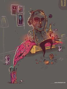 shrooms effect by Shank , via Behance