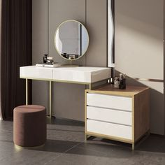 Dressing Table With Mirror And Lights, Dressing Table For Small Space, Dressing Table With Chair, Bedroom Dressing Table, Dressing Table Mirror, Make Up Desk Vanity, Vanity Desk, Latest Dressing Table Designs, Contemporary Dressing Tables