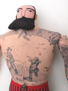 Mimi Kirschner Tattooed Man doll