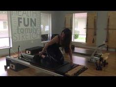 Equilibrium Studio Instructor Lauren Kaczander teaching Plank on Reformer