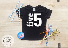 Birthday Boy Shirt Baby Clothes 5 Year Old Outfit Fifth TShirt 5th Party Five Toddler 019