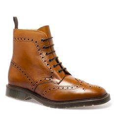 Solovair 6 Eye Brogue Derby Boot.  Made in England.