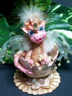 OOAK precious baby dragon fairy mystical fairy by JoyzanzCreations, $79.00