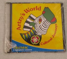 Artzy's World Cultural Journeys CD-ROM Crizmac 8 Complete Lessons NEW Zebra